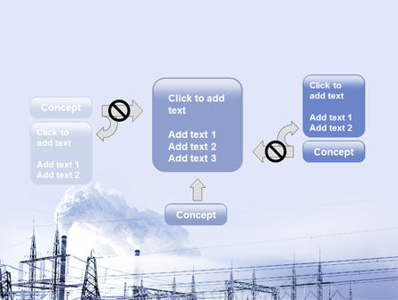 Snowcovered Power Line PowerPoint Template Slide 13