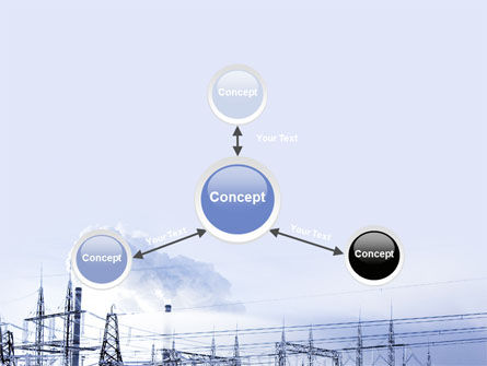 Snowcovered Power Line PowerPoint Template Slide 14