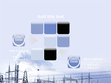 Snowcovered Power Line PowerPoint Template Slide 16