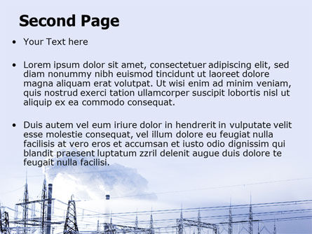 Snowcovered Power Line PowerPoint Template Slide 2