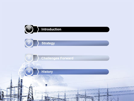 Snowcovered Power Line PowerPoint Template, Slide 3, 06828, Careers/Industry — PoweredTemplate.com