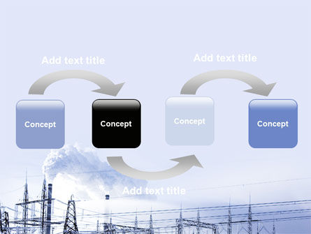 Snowcovered Power Line PowerPoint Template Slide 4