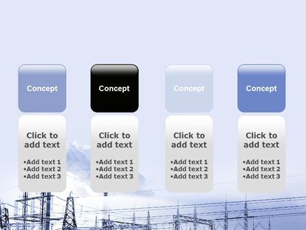 Snowcovered Power Line PowerPoint Template Slide 5