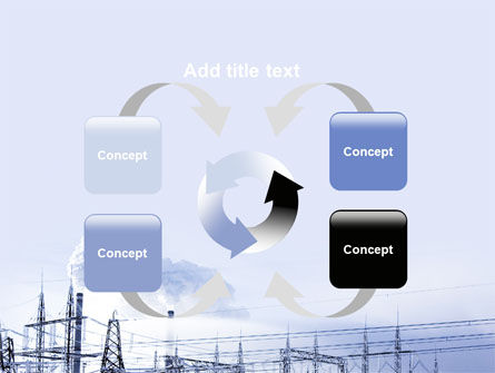 Snowcovered Power Line PowerPoint Template Slide 6