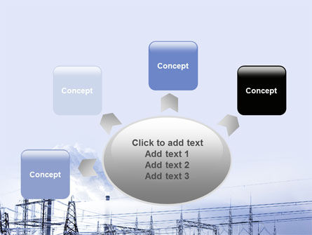 Snowcovered Power Line PowerPoint Template Slide 7