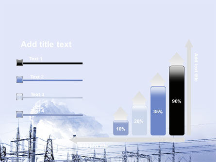 Snowcovered Power Line PowerPoint Template Slide 8