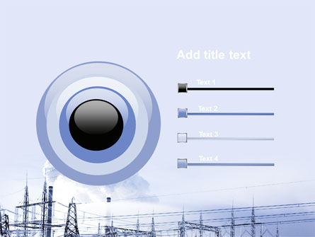 Snowcovered Power Line PowerPoint Template Slide 9