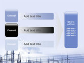 Snowcovered Power Line PowerPoint Template#12