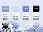 Snowcovered Power Line PowerPoint Template#18