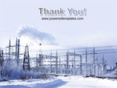 Snowcovered Power Line PowerPoint Template#20