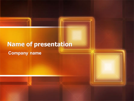Yellow Boxes PowerPoint Template