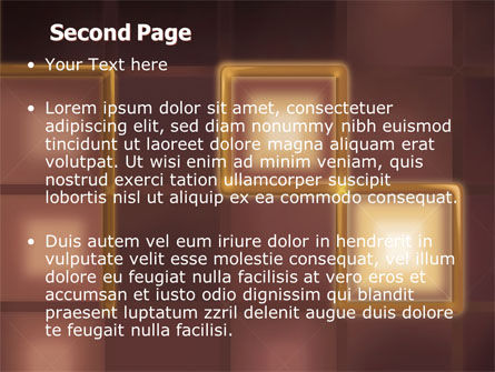 Yellow Boxes PowerPoint Template Slide 2