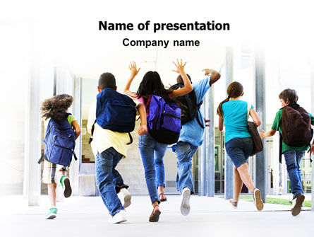 Education & Training: Schoolkinderen PowerPoint Template #06830