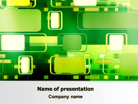 Green Boxes PowerPoint Template