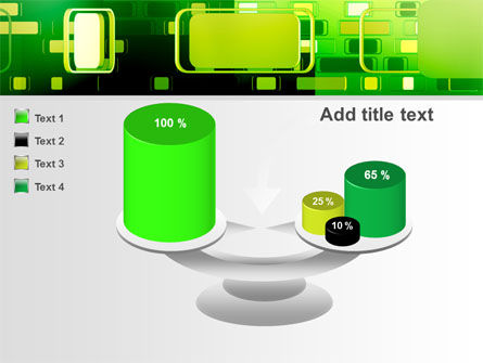 Green Boxes PowerPoint Template Slide 10