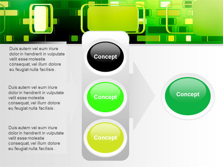Green Boxes PowerPoint Template Slide 11