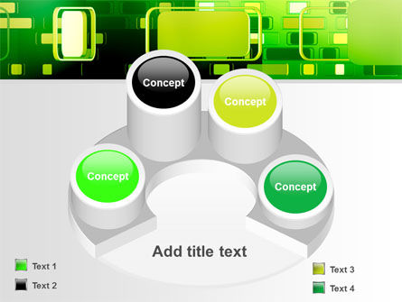 Green Boxes PowerPoint Template Slide 12