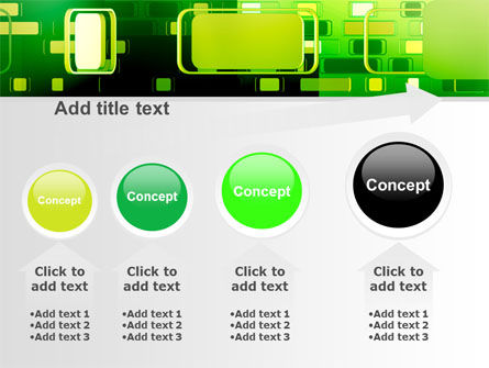 Green Boxes PowerPoint Template Slide 13