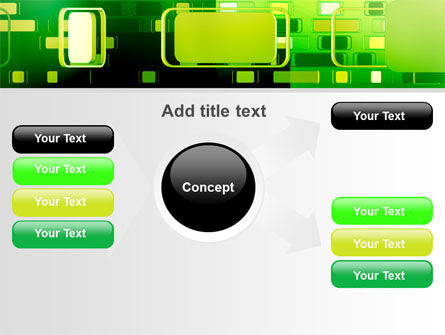 Green Boxes PowerPoint Template Slide 14