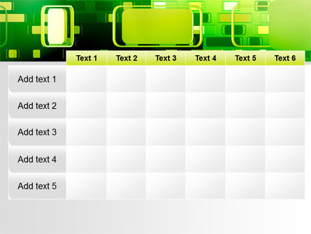Green Boxes PowerPoint Template Slide 15