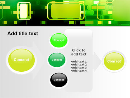 Green Boxes PowerPoint Template Slide 17