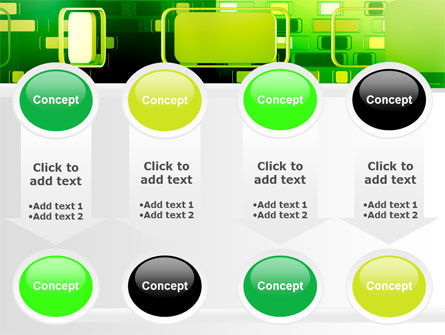 Green Boxes PowerPoint Template Slide 18