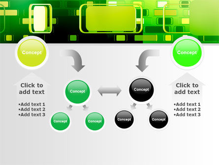 Green Boxes PowerPoint Template Slide 19