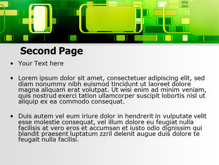 Green Boxes PowerPoint Template Slide 2