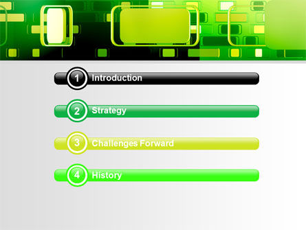 Green Boxes PowerPoint Template Slide 3
