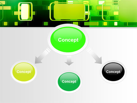 Green Boxes PowerPoint Template Slide 4