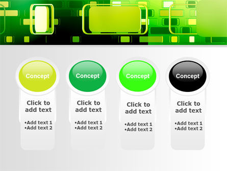 Green Boxes PowerPoint Template Slide 5