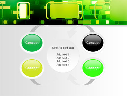 Green Boxes PowerPoint Template Slide 6