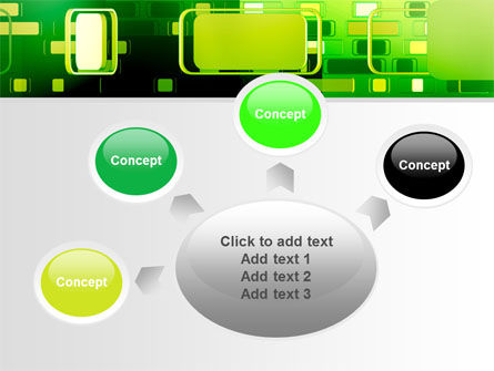 Green Boxes PowerPoint Template Slide 7