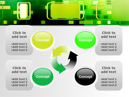 Green Boxes PowerPoint Template Slide 9