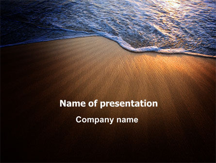Careers/Industry: Sea Sand On The Sunset PowerPoint Template #06835