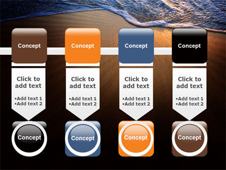 Sea Sand On The Sunset PowerPoint Template Slide 18