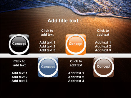 Sea Sand On The Sunset PowerPoint Template Slide 19