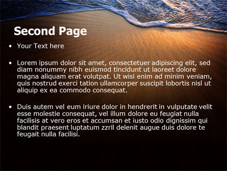 Sea Sand On The Sunset PowerPoint Template Slide 2