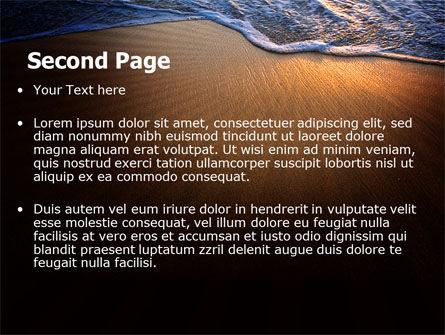 Sea Sand On The Sunset PowerPoint Template, Slide 2, 06835, Careers/Industry — PoweredTemplate.com