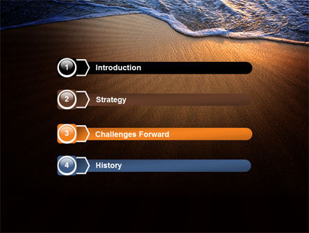 Sea Sand On The Sunset PowerPoint Template Slide 3