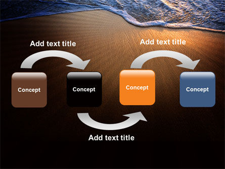 Sea Sand On The Sunset PowerPoint Template Slide 4
