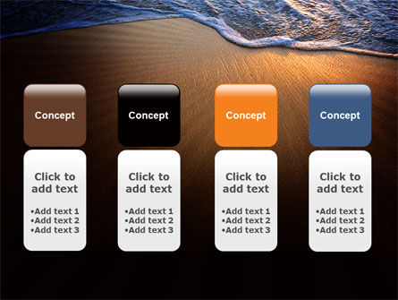 Sea Sand On The Sunset PowerPoint Template Slide 5