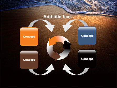 Sea Sand On The Sunset PowerPoint Template Slide 6