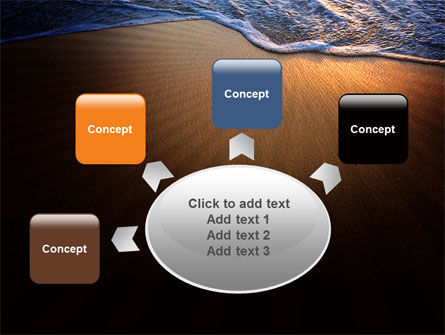 Sea Sand On The Sunset PowerPoint Template Slide 7