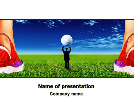 Consulting: Golf Ball PowerPoint Template #06837