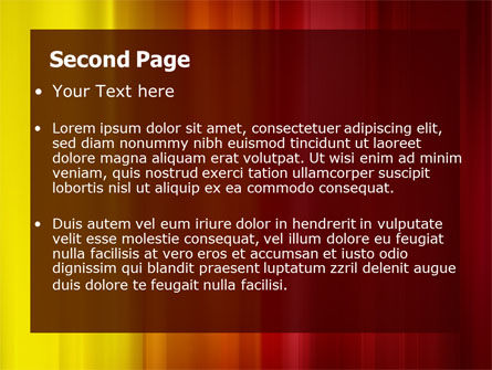 Red and Yellow PowerPoint Template Slide 2