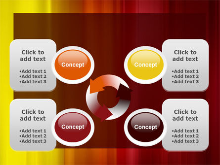 Red and Yellow PowerPoint Template Slide 9