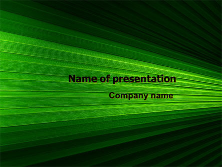 Free Abstract Green Lines PowerPoint Template