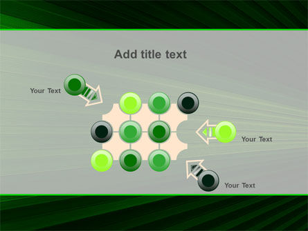 Free Abstract Green Lines PowerPoint Template Slide 10