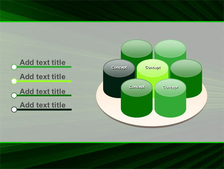Free Abstract Green Lines PowerPoint Template Slide 12